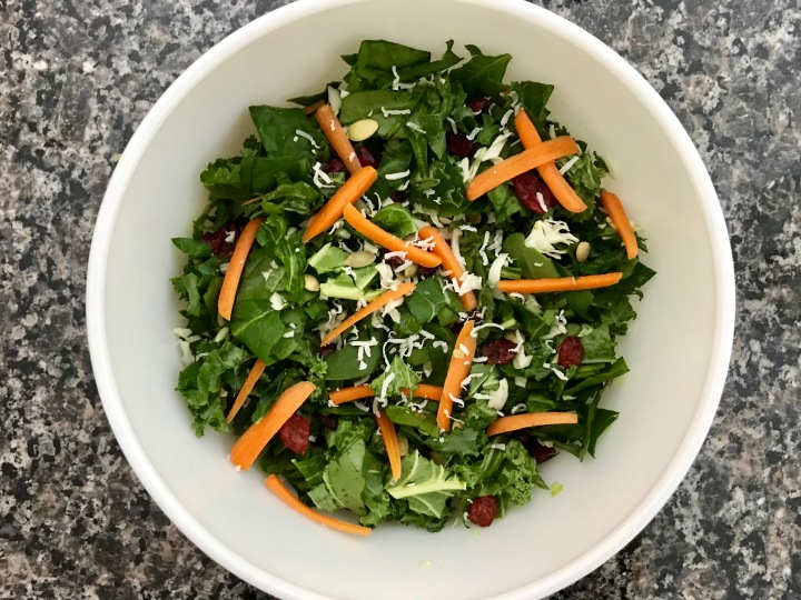 My Dad's Chopped Kale & SpinachSalad