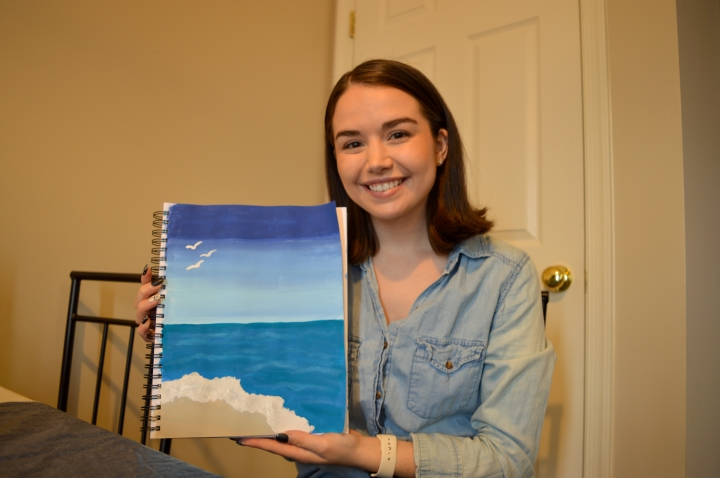 Painting with The Thankful Palette- Ocean Painting